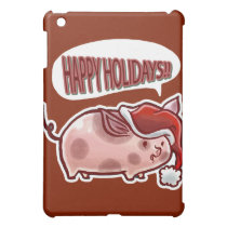 Cute Holiday Pig Cover For The iPad Mini