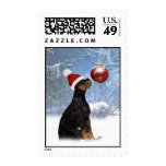 Cute Holiday Postage Stmap - Rottweiler Puppy