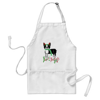 Cute Holiday Pup Adult Apron