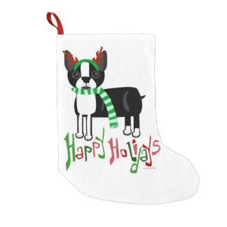 Cute Holiday Pup Small Christmas Stocking