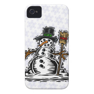 Cute Holiday Snowman iPhone 4 Case