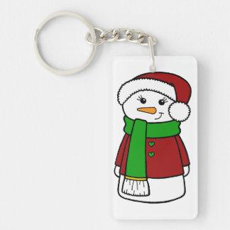 Cute Holiday Snowman Keychain