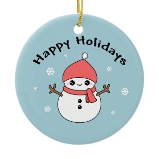 Cute Holiday Snowman ornament