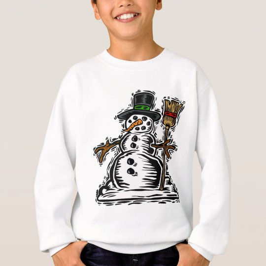 Cute Holiday Snowman Sweatshirt