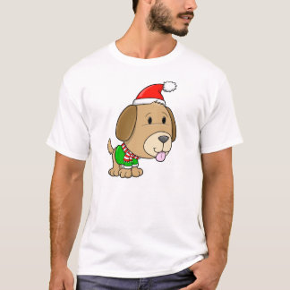 Cute Holiday Winter Christmas Puppy Dog T-Shirt
