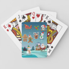 Cute Holidays Scene Playing Cards