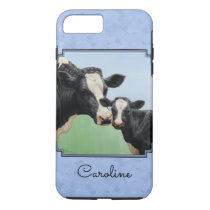 Cute Holstein Calf & Cow Sky Blue iPhone 8 Plus/7 Plus Case