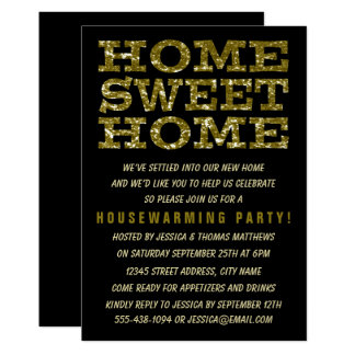 Cute Home Sweet Home Housewarming Invitations