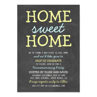 "Cute Home Sweet Home Housewarming Invitations 5"" X 7"" Invitation Card"