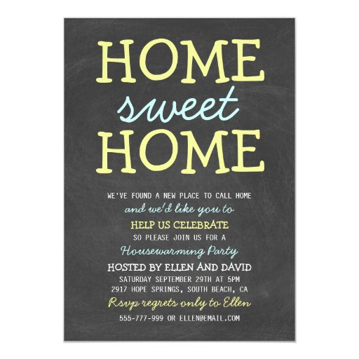 Cute Home Sweet Home Housewarming Invitations | Zazzle