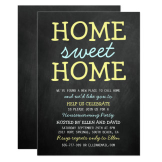 Cute housewarming invitations announcements zazzle cute home sweet home housewarming invitations stopboris