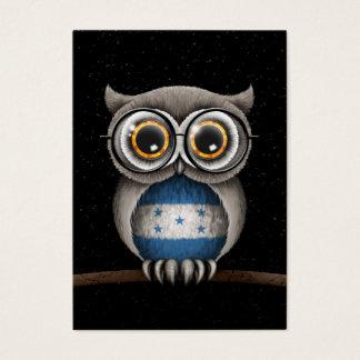Cute Honduran Flag Owl Wearing Glasses Business Card