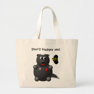 Cute Honey Badger and Honey Bee: Don't badger me! Tote Bag