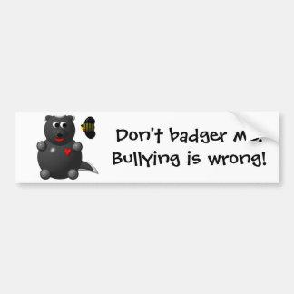 Cute Honey Badger and Honey Bee: Don't badger me! Bumper Sticker