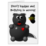 Cute Honey Badger and Honey Bee: Don't badger me! Card