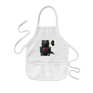 Cute Honey Badger and Honey Bee: Don't badger me! Kids' Apron