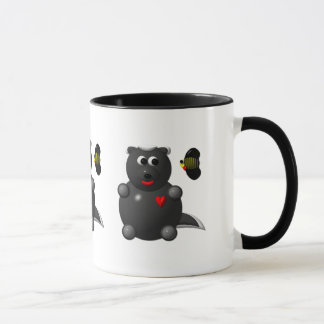 Cute Honey Badger and Honey Bee: Don't badger me! Mug