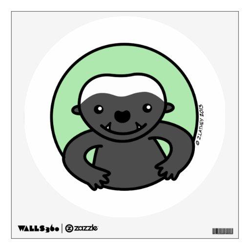 Cute Honey Badger Wall Sticker
