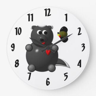 Cute Honey Badger with Bee Clock