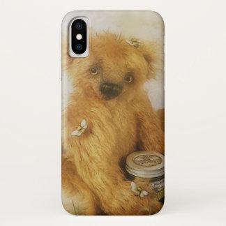 Cute Honey Bear Teddy Illustration iPhone X Case