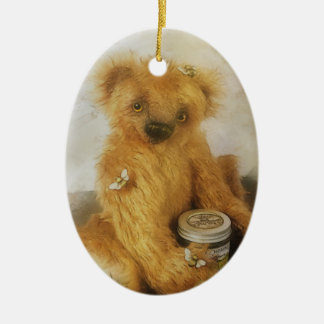 Cute Honey Bear Teddy Personalized Ceramic Ornament