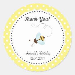Cute Honey Bee Birthday Sticker