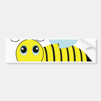Cute Honey Bee Bumper Sticker