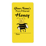 Cute Honey Bee Custom Name Honey Labels for Jar Labels