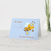 Cute Honey Bee Kid's Birthday Card