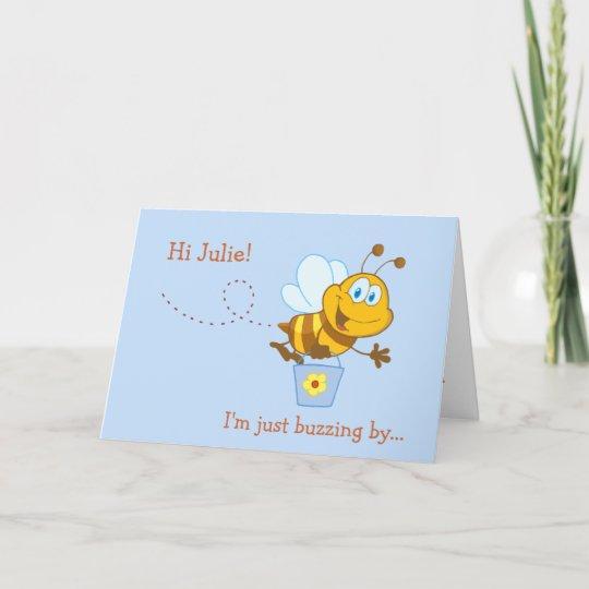 Cute Honey Bee Kids Birthday Card Zazzle