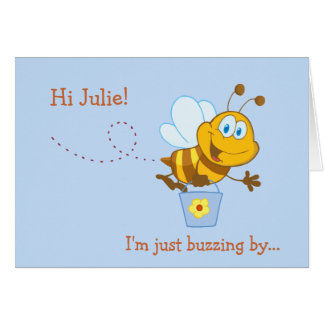 Cute Honey Bee Kid's Birthday Card