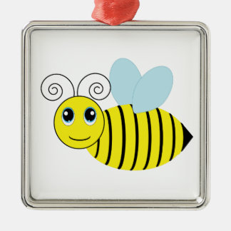 Cute Honey Bee Metal Ornament