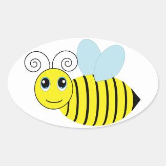 Cute Honey Bee Oval Sticker
