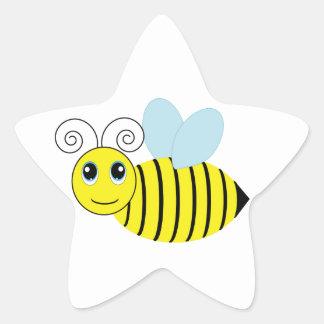 Cute Honey Bee Star Sticker