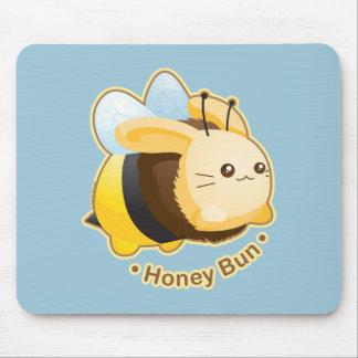 Cute Honey Bun Bunny Mouse Pad
