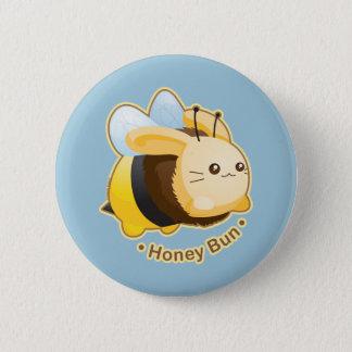 Cute Honey Bun Bunny Pinback Button