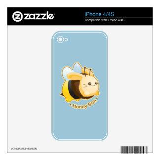 Cute Honey Bun Bunny Skin For The iPhone 4S