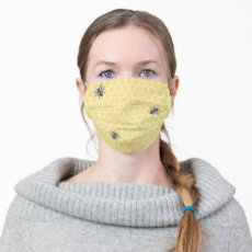 Cute Honeycomb Bee Cloth Face Mask