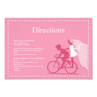 Cute Honeysuckle Bicycle Couple Direction Card Invitation