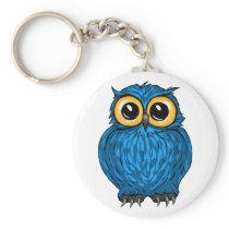 Cute Hoot Blue Owl Keychain