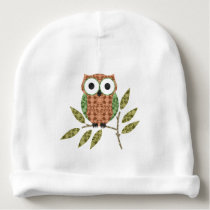 Cute Hoot Owl Baby Hat