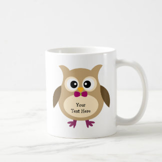 Cute Hoot Owl (customizable) Coffee Mug
