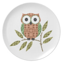 Cute Hoot Owl Decorative Plate