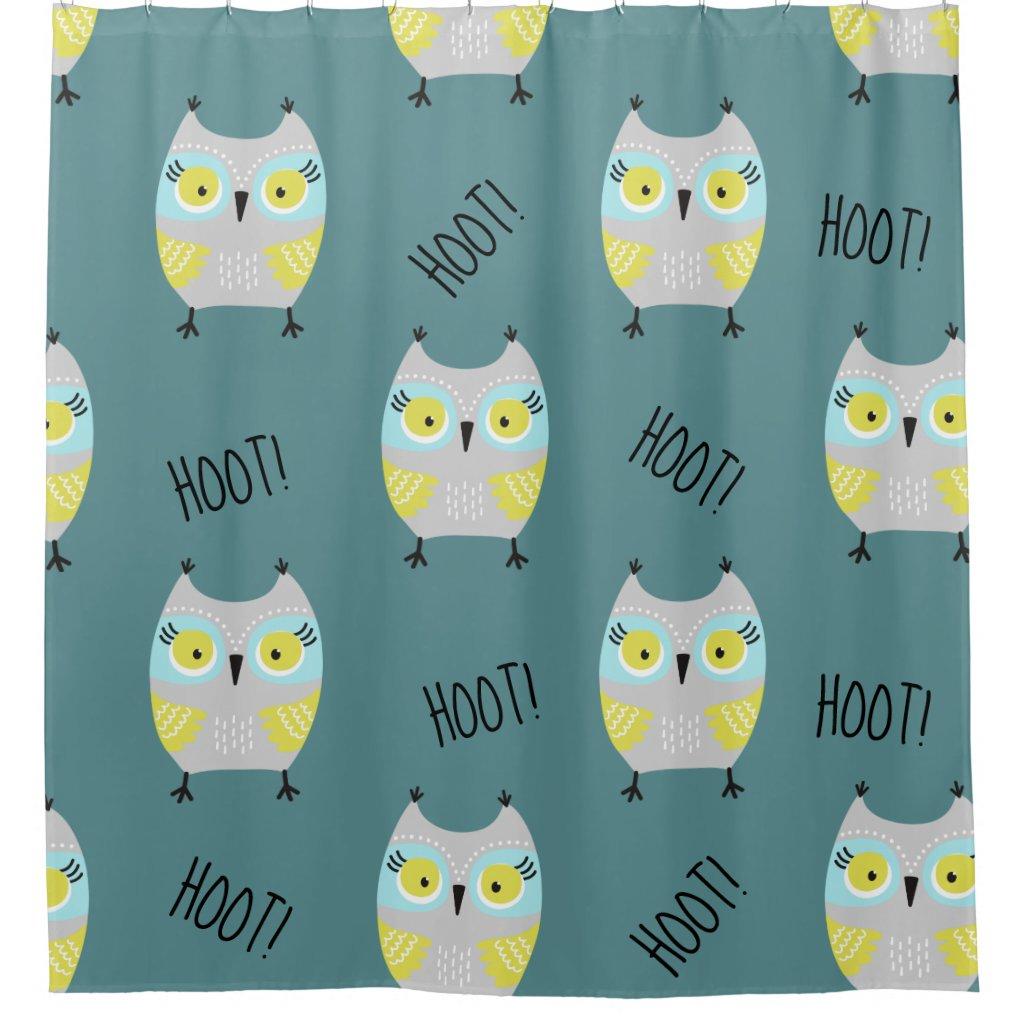 Cute Hoot Owls Shower Curtain