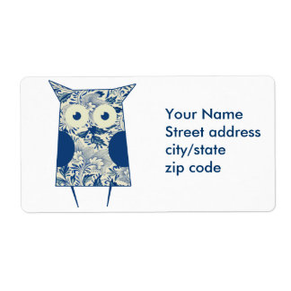 Cute hoot Vintage Owl Label