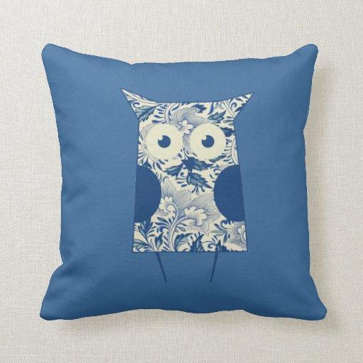 Cute hoot Vintage Owl Throw Pillows