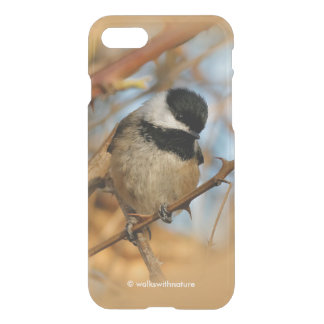 Cute Hopeful Hungry Black-Capped Chickadee iPhone 7 Case