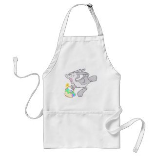 Cute Hoppy Easter Bunny Design Adult Apron