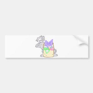 Cute Hoppy Easter Bunny Design Bumper Sticker