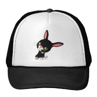 Cute Hoppy the Black Cartoon Bunny Trucker Hat